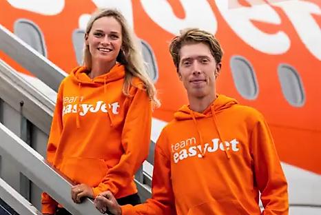 Jorrit Bergsma en Irene Schouten easyJet