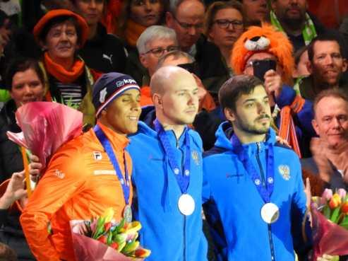 podium 500m heren ek afstanden