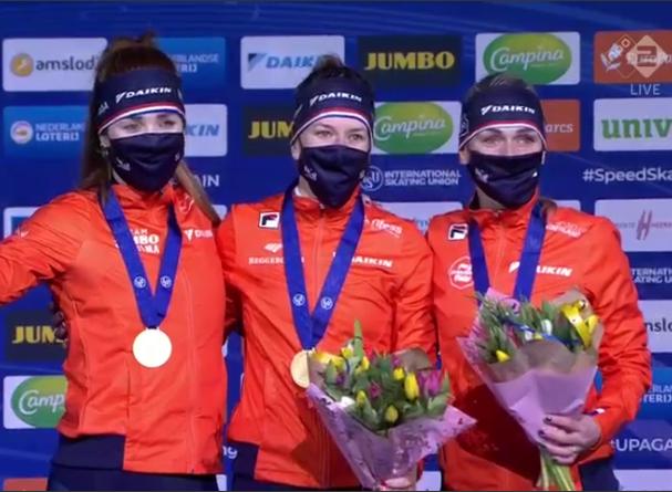 Team Pursuit NL dames podium wk afstanden